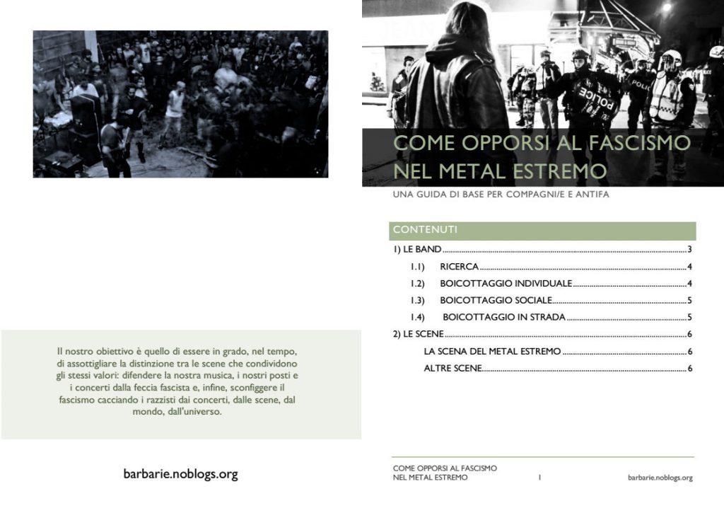 come opporsi al fascismo nel metal estremo PDF